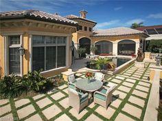 Pretty Back Yard and pool | Bay Colony Shores | Naples, Florida