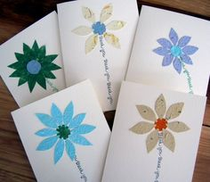Birthday card with flower of handmade and plantable by PulpArt