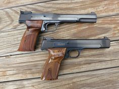 S&W Model 41 .22 target pistols. I have one and I <3 <3 <3 it...