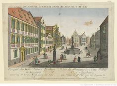 View of the fountain of Hans Felber at Augsburg's Ulrich Square, Augsburg. Engraved by Balthazar Friedrich Leizelt, c. 1770.