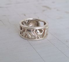 Adorable sterling silver elephant ring! This ring is marked 925 on the inside of the band and is genuine sterling silver. Gently used but overall in good condition! Size 5.75 - 6.