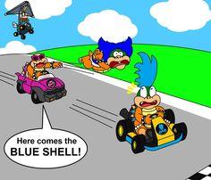 The blue shell? by DarkDiddyKong on DeviantArt Super Mario Games, Super Mario Art, Mario And Luigi, Mario Bros, Video Game Art, Video Games, Nintendo Splatoon, Mario Brothers, Old Video
