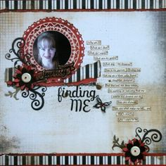 Lovely Scrapbook Page by @Tina using Jewel Flowers and Flourishes, and Jewel keys.