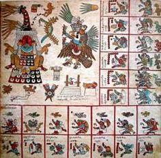 Página 12 del Codex Borbonicus. Wikipedia Commons
