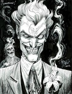 The Joker by Tony Moore. Just when you thought the Joker couldn't get any creepier...