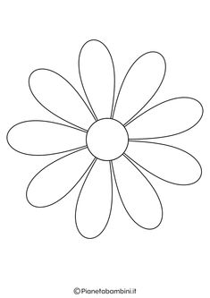 81 Coloring and Cutting out Flower Silhouettes for Children Paper Flower Patterns, Flower Pattern Design, Paper Flowers Diy, Felt Flowers, Diy Embroidery Flowers, Simple Embroidery Designs, Embroidery Patterns, Decoration Creche, Flower Template