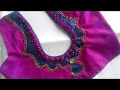 Simple Saree Blouse Designs, Cutwork Blouse Designs, Patch Work Blouse Designs, Maggam Work Designs, Simple Blouse Designs, Stylish Blouse Design, Blouse Back Neck Designs, Blouse Designs Catalogue, Indian Blouse