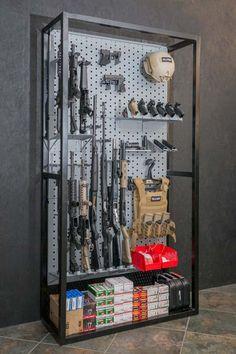 A-Frame & Freestanding Racks Ammo Storage, Weapon Storage, Tactical Wall, Tactical Gear, Gun Safe Room, Gun Safe Diy, Gun Closet, Reloading Room, Gun Vault