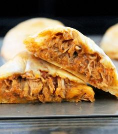 Buffalo Chicken Biscuit Empanadas, Easy & Quick-Creole Contessa.   (Me personally - I don't like the taste of whompum biscuits.  I'll use biscuit mix and it won't be a lot more trouble).