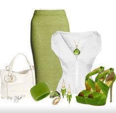 Lime & White