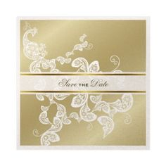 Elegant Floral Peacock White Wedding Save The Date Personalized Invites