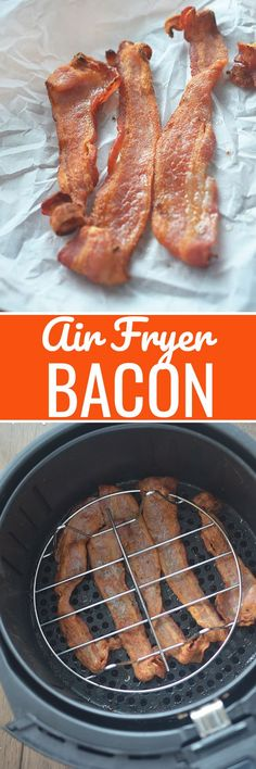 Air Fryer Bacon! - Recipe Diaries Perfectly crispy bacon made in the air fryer. #airfryer #airfryerrecipes #bacon
