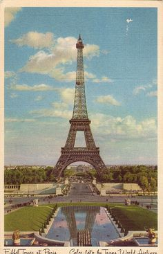 Eiffel Tower at Paris - Color-foto by Trans World Airlines | Flickr - Photo Sharing!