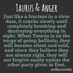 Zodiac Society - Taurus & Anger: Slow and Scary