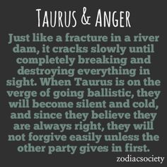 Zodiac Society - Taurus & Anger: Slow and Scary