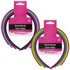 Basic Solutions Fabric-Covered Plastic Headbands, 6-ct. Packs
