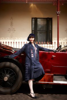 "Kittyinva: Essie Davis as Phryne Fisher in the wonderful ""MIss Fisher's Murder Mysteries""."