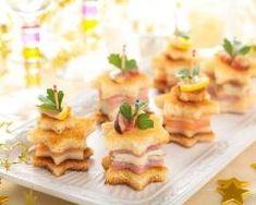 Tapas de noël au saumon, parmesan et jambon Ingrédients