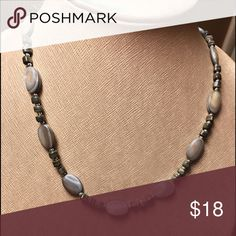 CHAPS simple abalone choker Chaps simple abalone choker in very muted tones. All natural colors. Very comfortable to wear. Goes great with jeans.  EUC Jewelry Necklaces