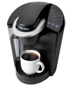 Borrow a keurig or other single-cup machine to serve tea. Dec it up a bit to look high-techy and whatnot.