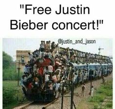 I would be so on that train... I would be on the front shouting to happiness my fellow beliebers