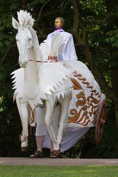 white horse, puppet, verulamium park, st albans, pilgrimage, TIFUK3407602
