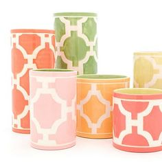 jill rosenwald geometric vases - so pretty