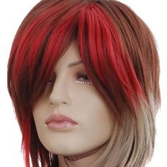 KW417 Short New Brown Blonde Red Spike Party Wigs | eBay