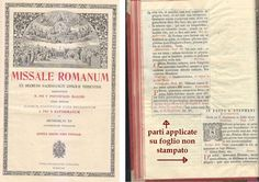 MISSALE ROMANUM decreto sacrosancti concilii tridentini 1939 Typis Polyglottys