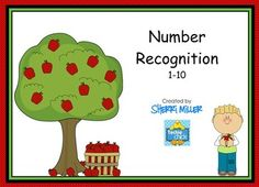 FREE!!!! Use this apple-themed Smartboard lesson for students to practice number recognition 1-10.  Students arrange the numbers in order 1-10, count apples and choose the corresponding number, and spin for a number and count out apples.  Aligned to Common Core and Virginia SOL K.2.