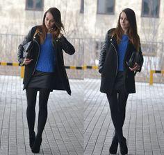 H&M Sweater, Sheinside Coat, Mohito Bag, Czasnabuty Shoes