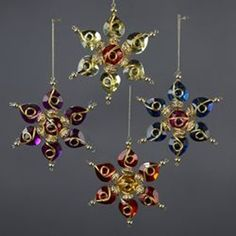 wire snowflake ornaments | ornament_snowflake_gold_wire_bead_h8117.jpg