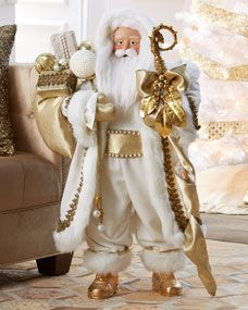 Nicholas Heirloom Statue from Christopher Radko at Horchow, where you'll find new lower shipping on hundreds of home furnishings and gifts. Gold Christmas Tree, Elegant Christmas, Christmas Time, Christmas Crafts, Christmas Decorations, Christmas Stuff, Xmas, Christopher Radko, Santa Ornaments