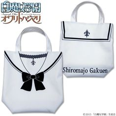 Shiromajo Gakuen is the TV drama vehicle for the much-loved J-pop phenomenon, Dempagumi.inc in which the girls enroll at the Shiro Majo Gakuen (White Witch Academy) which takes in young girls with traumatic pasts and trains them to become witches.  This cute tote bag is modelled on the sailor-suit-style uniforms the girls wear during the show and comes in a white color with the classic blue collar and pretty bow, plus a necklace with a fleur-de-lis on the front, a sailor-style collar, and…