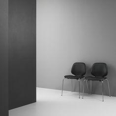 Normann Copenhagen My Leather Chair Monochrome Interior, Contemporary Interior, Modern Interior Design, Modern Interiors, Modern Bedroom Furniture, Minimalist Furniture, Furniture Design, Black Furniture