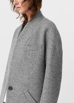 Manteau cocoon en laine   MANGO