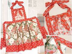 Country Fresh Double Flounce Apron | Sew4Home