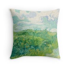 'Vincent van Gogh Green Wheat Fields, Auvers 1890 Painting' Throw Pillow by podartist Wheat Fields, Canvas Prints, Art Prints, Vincent Van Gogh, Summer Trends, Vibrant, Minimalist, Throw Pillows, Group