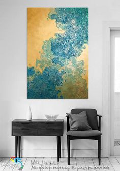 Interior Design Large Art Room Inspiration. Christian Art-Isaiah 45:3. Hidden Riches. VerseVisions inspirational abstract art by Mark Lawrence. Original limited edition signed canvas & paper giclees.