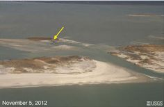 Sandy caused major changes to the east coast shorelines