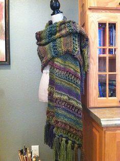 Roman Stripe Stitch Prayer Shawl pattern by Louis Chicquette,  allgirl33 trying it out.