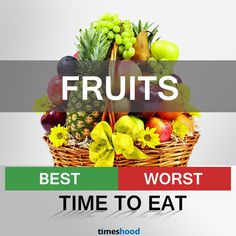 Does it really matter what time to eat fruits? To give a complete dose of nutrients, know the best and worst time to eat fruits. Best time to eat fruits is morning an empty stomach… When To Eat Fruit, Best Fruits To Eat, Eating Banana At Night, Eating At Night, Weight Loss Water, Weight Loss Drinks, Natural Antacid, Fiber Rich Fruits, Best Time To Eat