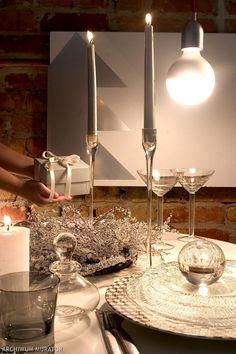 Glass + candles = magic:)