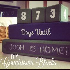 Counting Down! Tons of ideas on this site!