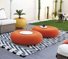 Old Tire Rope Ottoman Is A Super Easy DIY