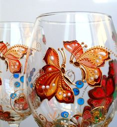 Butterfly hand painted wine glasses Insect Personalized Birthday gift for her Wedding glasses Custom gift for woman Anniversary gift Red Wine Glasses, Hand Painted Wine Glasses, Gifts For Wine Lovers, Wine Gifts, Personalized Wine Glasses, Personalised Wine, Best Wine Clubs, Wine Club Membership, Wine House