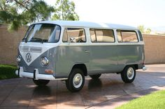 VW Bus, parents bought one in Germany when I was born, looked just like this, color and all