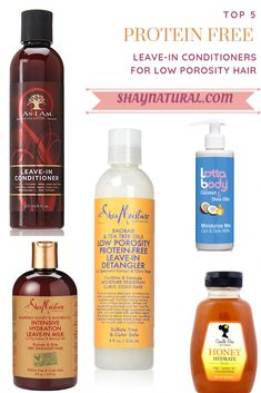 Top 5 Protein Free Leave-In Conditioners for Low Porosity Hair - Hair Care Beauty Pelo Natural, Natural Hair Tips, Natural Hair Journey, Natural Curls, Natural Hair Styles, Natural Hair Products, 4c Hair Products, Free Products, Black Hair Products