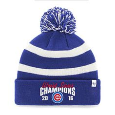 Chicago Cubs 2016 World Series Champions Breakaway Knit Hat with Pom 71e258c859d