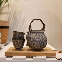AKIKO HIRAI | In a unique collaboration with TOAST, #AkikoHirai has created a small collection of yunomi-chawan. These teacups, based on those made for the Sen-Cha tea ceremony, are being exhibited and sold at our Westbourne Grove store Link in bio #TOASTTravels tea set £600(Yunomi tea bowl £240 Kohiki bowl £96)